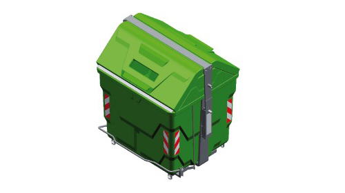 Rotomolded waste container